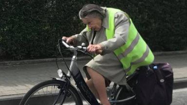 Schaerbeek : une dame à vélo fait le buzz sur Facebook