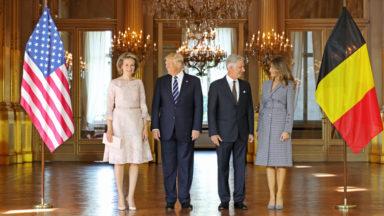 Donald et Melania Trump ont rencontré le roi Philippe et la reine Mathilde au Palais Royal