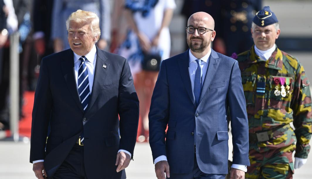 Donald Trump et Charles Michel - Belga