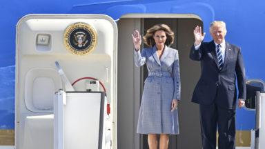 Air Force One a atterri : Donald Trump et sa famille sont arrivés à Bruxelles