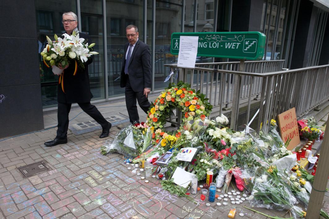 Fleurs - Attentats Bruxelles 22 mars