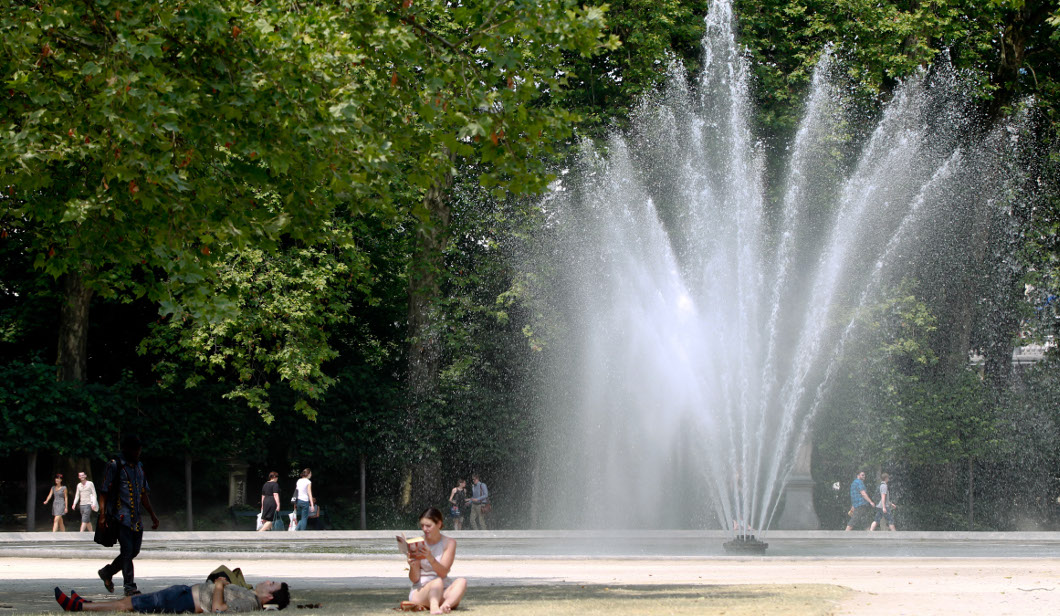 Fontaine - Parc de Bruxelles - Belga