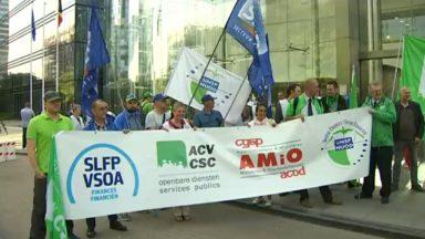 SPF Finances : le front commun syndical lance une action contre le manque de personnel