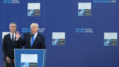 OTAN : les chefs d'État découvrent le nouveau siège, Trump demande plus d'argent pour l'OTAN