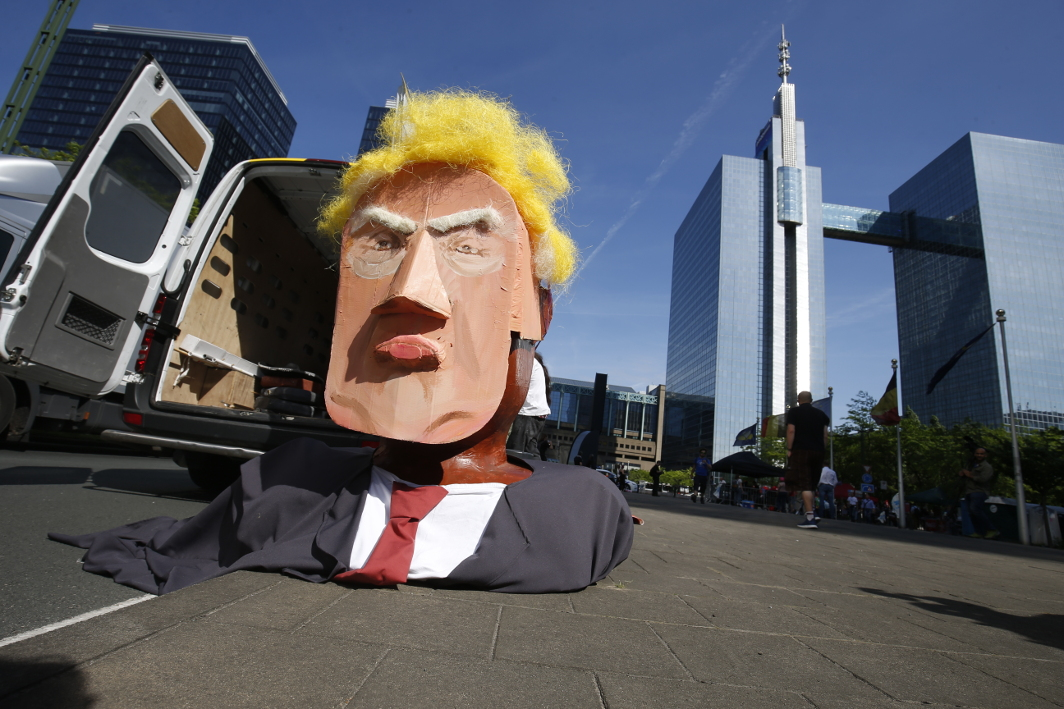 Manifestation anti-Donald Trump - Bruxelles 1