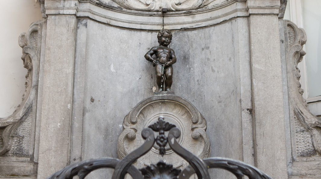 20140422 - BRUSSELS, BELGIUM:  Illustration picture shows the 'Manneken Pis' statue in Brussels, Tuesday 22 April 2014. BELGA PHOTO SISKA GREMMELPREZ
