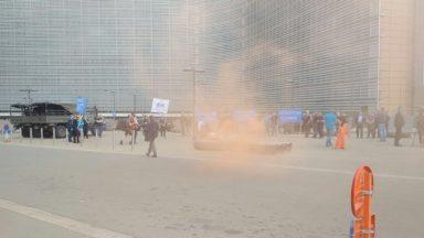 Des pêcheurs belges et néerlandais manifestent devant la Commission européenne