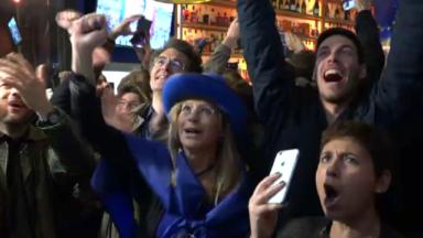 Élections françaises : explosion de joie des pro-Macron à Bruxelles