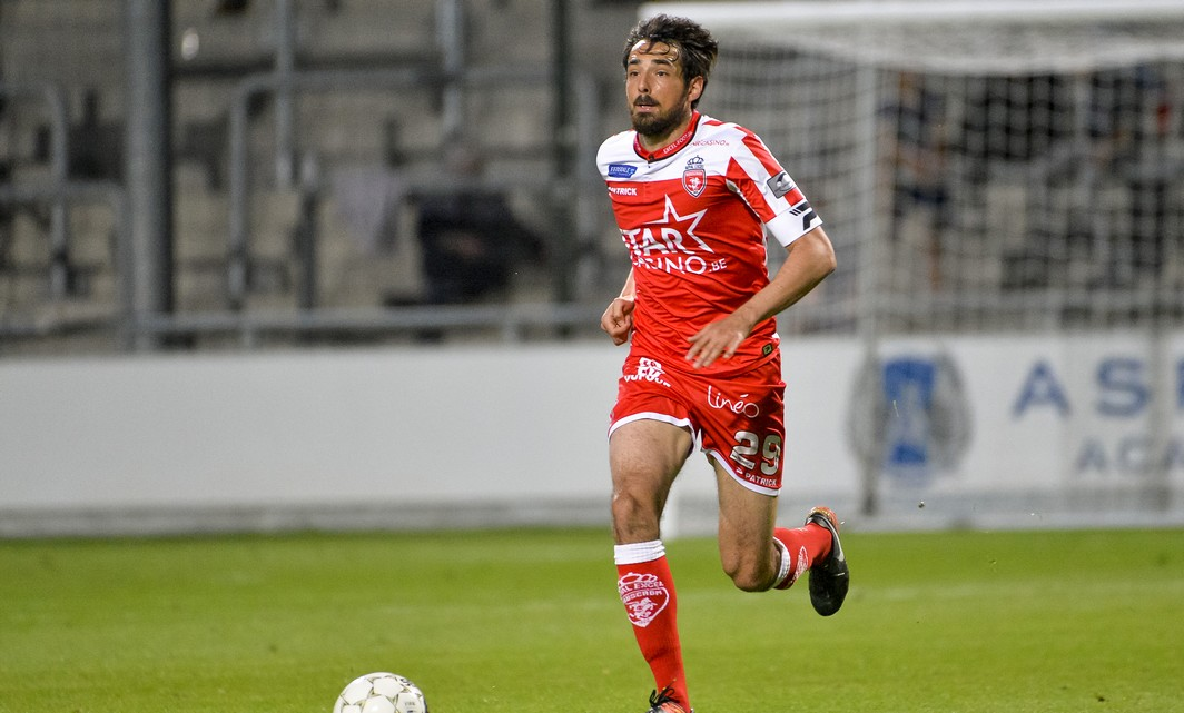 Mouscron's Thibaut Peyre pictured during the Jupiler Pro League match between KAS Eupen and Royal Excel Mouscron, in Eupen, Wednesday 17 May 2017, on day 9 (out of 10) of the Play-off 2B of the Belgian soccer championship. BELGA PHOTO NICOLAS LAMBERT