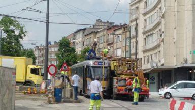 La circulation du tram 39 brièvement interrompue entre Madoux et Ban-Eik
