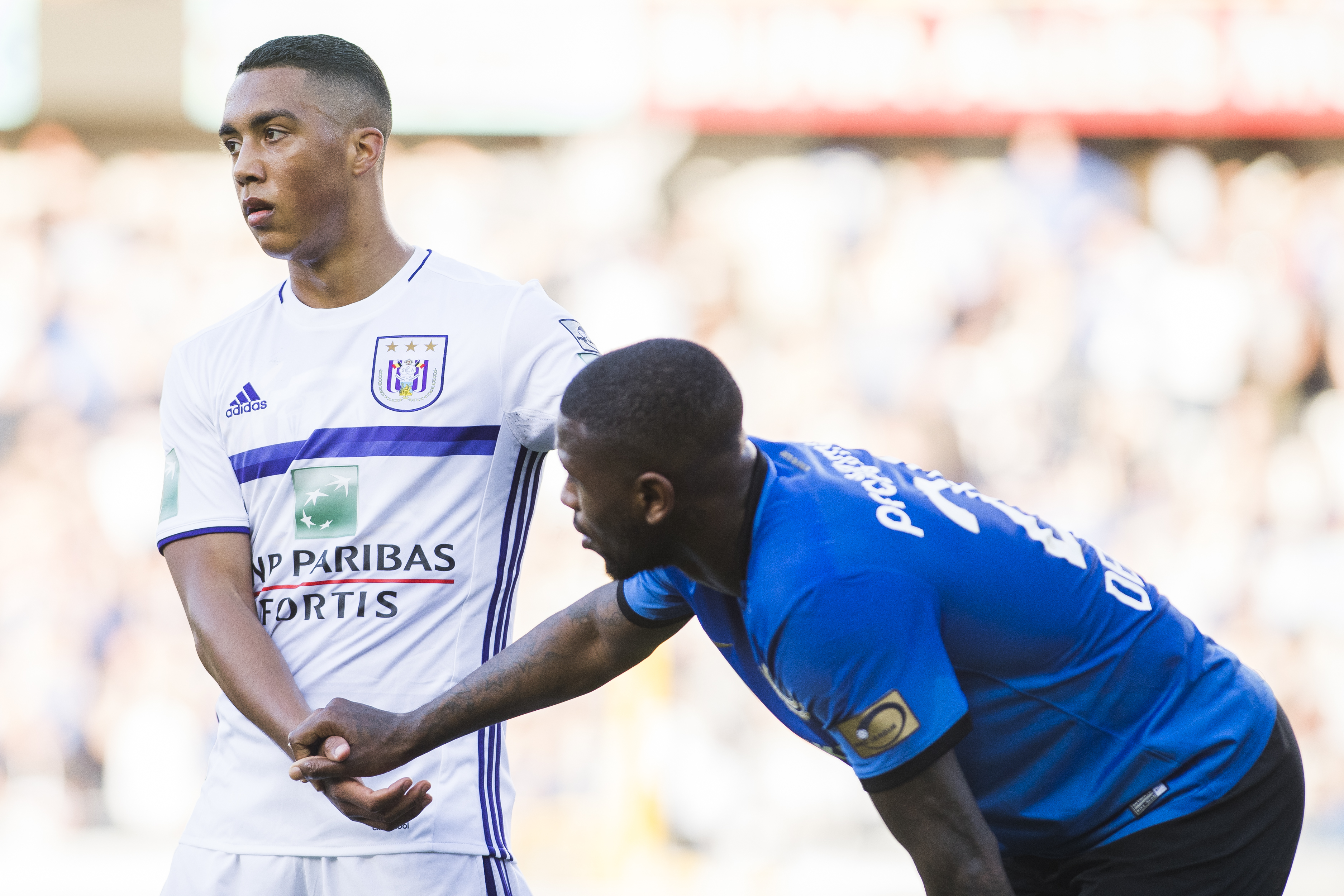 Anderlecht's Youri Tielemans looks dejected after the Jupiler Pro League match between Club Brugge and RSC Anderlecht, in Brugge, Sunday 14 May 2017, on day 8 (out of 10) of the Play-off 1 of the Belgian soccer championship. BELGA PHOTO LAURIE DIEFFEMBACQ