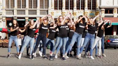 Des élèves tournent un clip à Bruxelles en hommage aux victimes des attentats