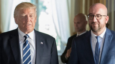 Dans un tweet, Donald Trump remercie Bruxelles pour l' «accueil chaleureux»
