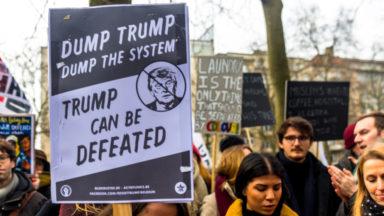 Une marche et plusieurs actions contre la venue de Trump à Bruxelles