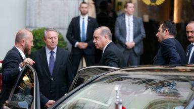 Le président turc Erdogan est arrivé à Bruxelles sans incidents