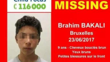 Le parquet cherche une solution pour le petit Brahim, retrouvé ce lundi à Bruxelles