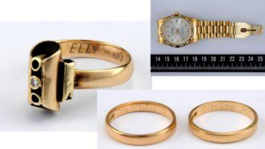 La police fédérale recherche les propriétaires de nombreux bijoux volés