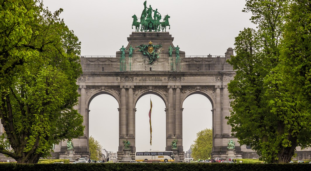 20130426 - BRUSSELS, BELGIUM: Illustration picture shows the Arch of Triumph at the Jubelpark / Cinquantenaire in Brussels on Friday 26 April 2013. BELGA PHOTO SISKA GREMMELPREZ