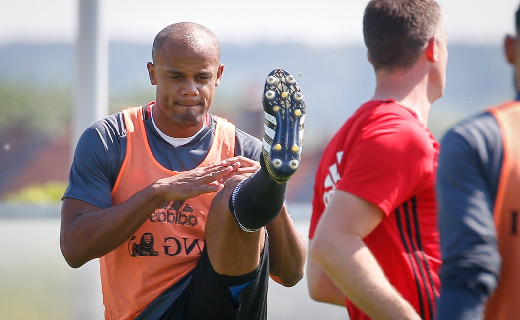Belgium's Vincent Kompany pictured during a training of Belgian national soccer team Red Devils, Friday 02 June 2017, at the Belgian Football Center in Tubize. Belgium plays a friendly game against Czech Republic on 05 June and a World Cup 2018 qualifier in Estonia. BELGA PHOTO BRUNO FAHY