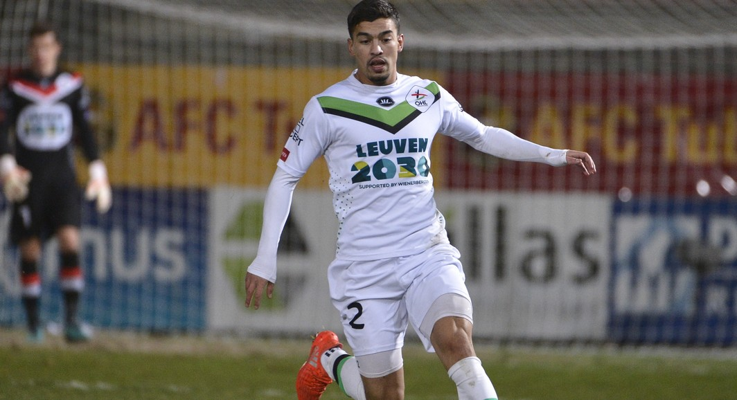 OHL's Soufiane El Banouhi pictured during the Proximus League match of D1B between Tubize and OH Leuven, in Tubize, Saturday 03 December 2016, on day 18 of the Belgian soccer championship, division 1B. BELGA PHOTO NICOLAS LAMBERT