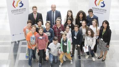Remise des prix du Parlement des enfants 2017 : une école d'Uccle lauréate