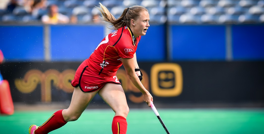 20150624 - BRASSCHAAT, BELGIUM: Belgium's Jill Boon pictured in action during the match between Belgium and Australia in Group B of the group stage at the World League semi-final, in Brasschaat, Wednesday 24 June 2015. BELGA PHOTO LUC CLAESSEN