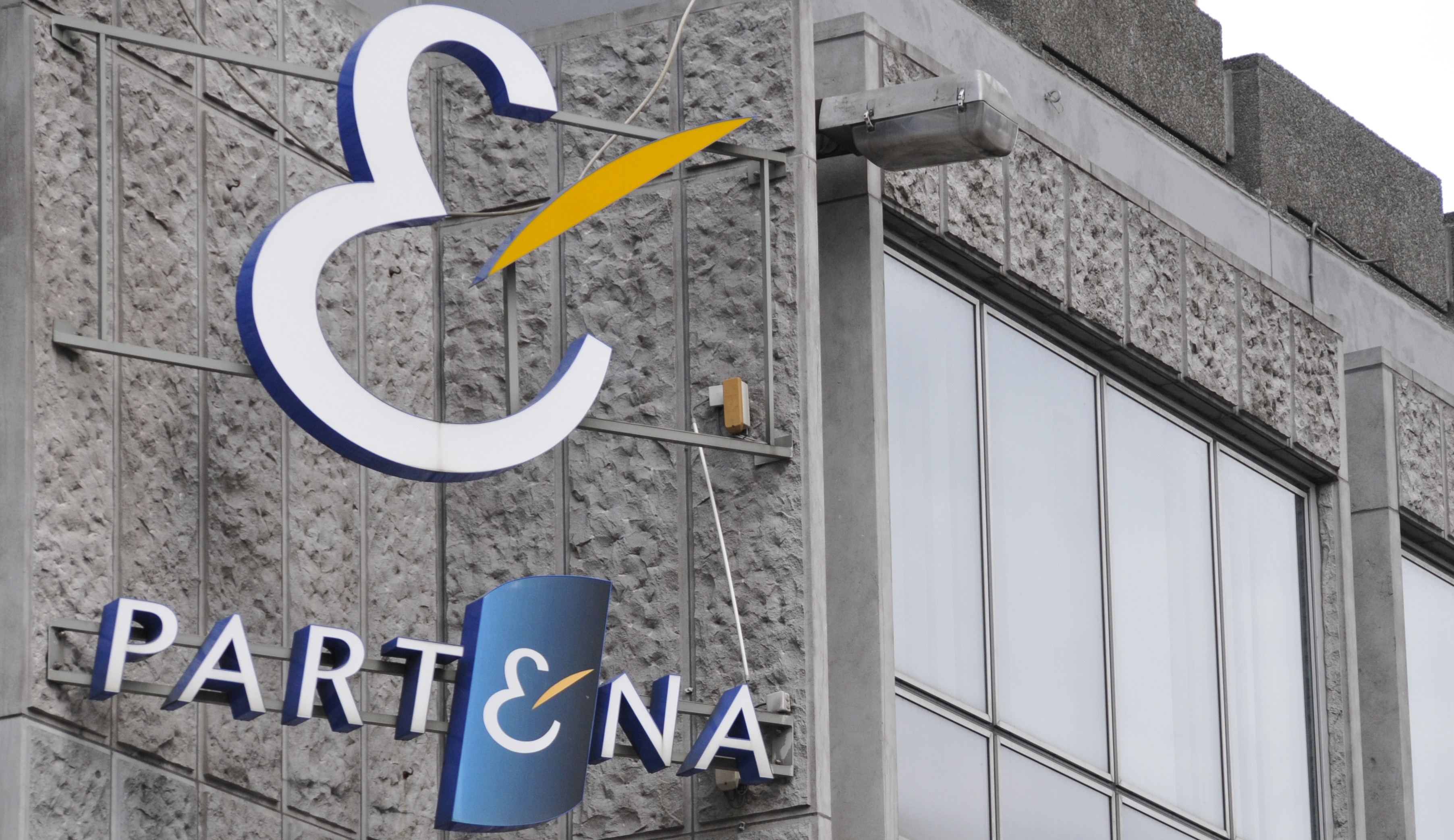 20120531 - BRUSSELS, BELGIUM: Illustration picture shows the logo of Partena during a press conference regarding the merger of service providers for entrepreneurs Partena and HDP, Thursday 31 May 2012 in Brussels. BELGA PHOTO THOMAS THIELEMANS