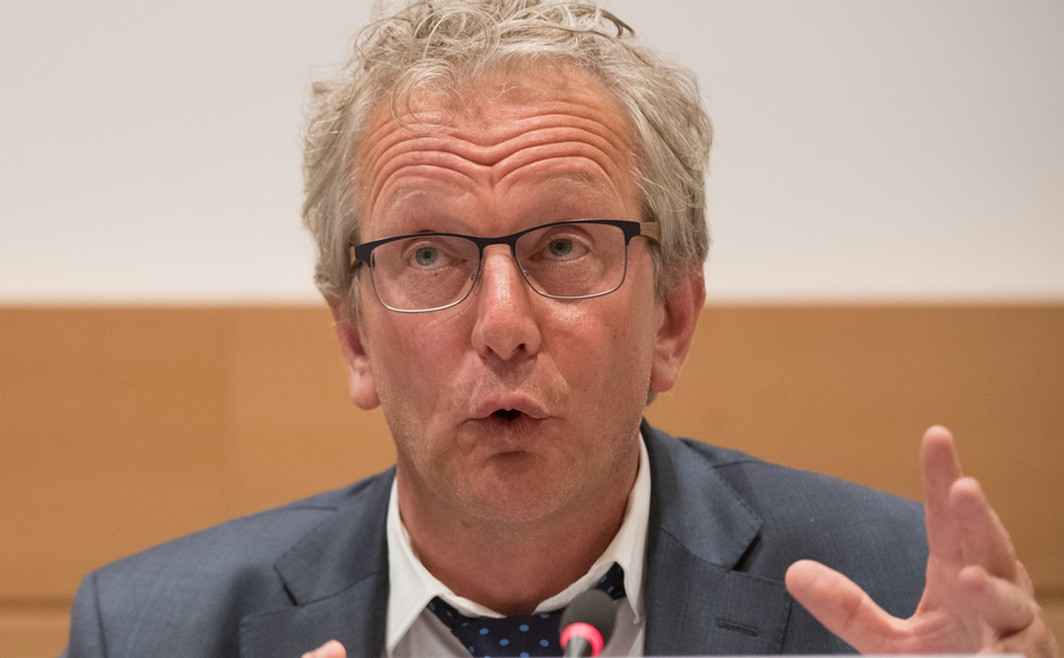 Rudy Volders pictured at a session of the parliamentary inquiry commission on the plea agreement, at the federal parliament, in Brussels, Monday 22 May 2017. This commission inquires the circumstances which led to the approbation and the application of the law of 14 April 2011 on the plea agreement. BELGA PHOTO BENOIT DOPPAGNE