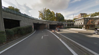 Coup de chaud sur les trémies de l'E40 à Schaerbeek