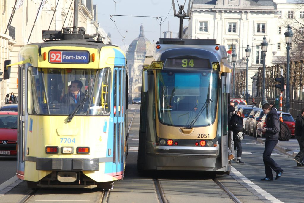 20110308 - BRUSSELS, BELGIUM: Illustration of Brussels' tramways. ( Photo Julien Warnand )