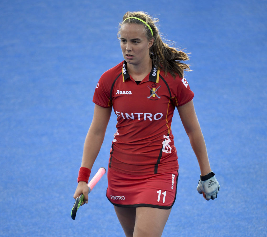 20150826 - LONDON, UNITED KINGDOM: Belgium's Joanne Peeters pictured during a hockey game between Belgium's Red Panthers and The Netherlands at the women's EuroHockey Championships 2015 during the Group stage of group A, Wednesday 26 August 2015, in London, United Kingdom. BELGA PHOTO DIRK WAEM