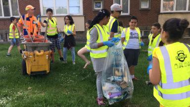 Opération «Clean Up» à l'école Moortebeek à Anderlecht