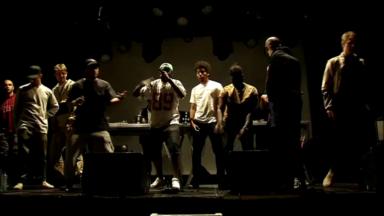 Les rappeurs du collectif Niveau 4 répètent à l'AB avant Couleur Café