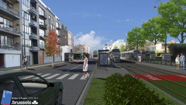 La STIB veut réaménager l'espace public aux alentours du cimetière de Jette