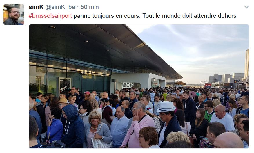 Une panne de courant provoque de nombreuses perturbations — Brussels Airport
