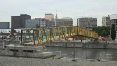 Le «Bridge», nouveau pont pour piéton au-dessus du canal