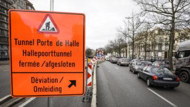 La circulation sur une bande au tunnel de la porte de Hal sera effective le 3 juillet