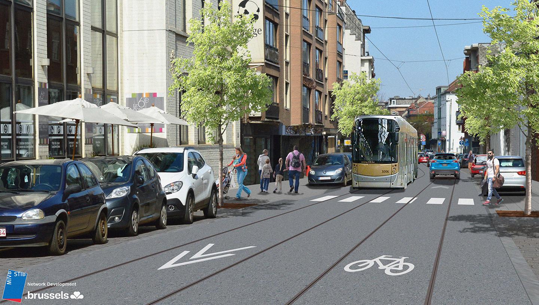 Alsemberg - Nouveau tram - STIB