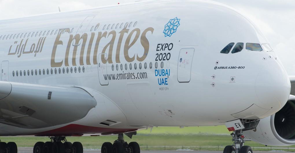 20150918 - ZAVENTEM, BELGIUM: Illustration picture shows the Emirates A380 Airbus, biggest passenger aerplane in the world, at Brussels national airport, in Zaventem, Friday 18 September 2015. BELGA PHOTO BENOIT DOPPAGNE