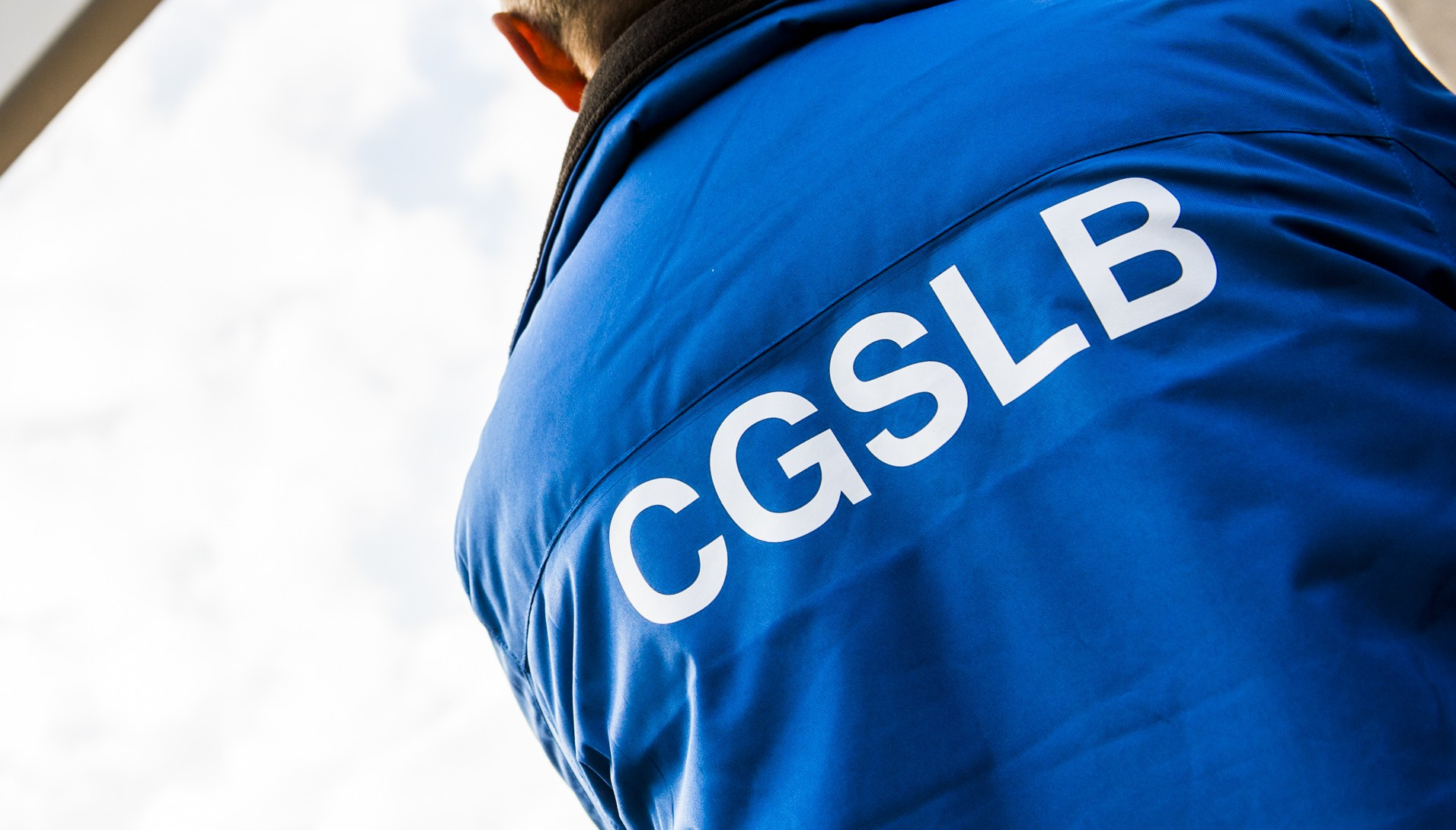 20150624 - BRUSSELS, BELGIUM: A man wearing CGSLB liberal union vest pictured ahead of an extraordinary works council (Conseil d'entreprise - ondernemingsraad) of Delhaize group, Wednesday 24 June 2015 in Brussels. They will discuss the future of the group with the possible consolidation with Dutch group Ahold and their supermarket Albert Heijn. BELGA PHOTO LAURIE DIEFFEMBACQ