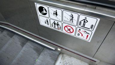 Bruxelles-Nord : un enfant coincé dans un escalator et légèrement blessé