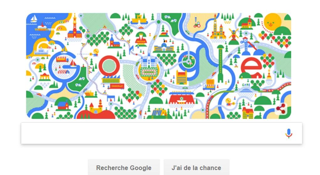 Google Doodle - Fête nationale belge