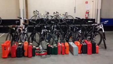 Berghem-Sainte-Agathe: la Police découvre 2 boxes de garage remplis de vélos