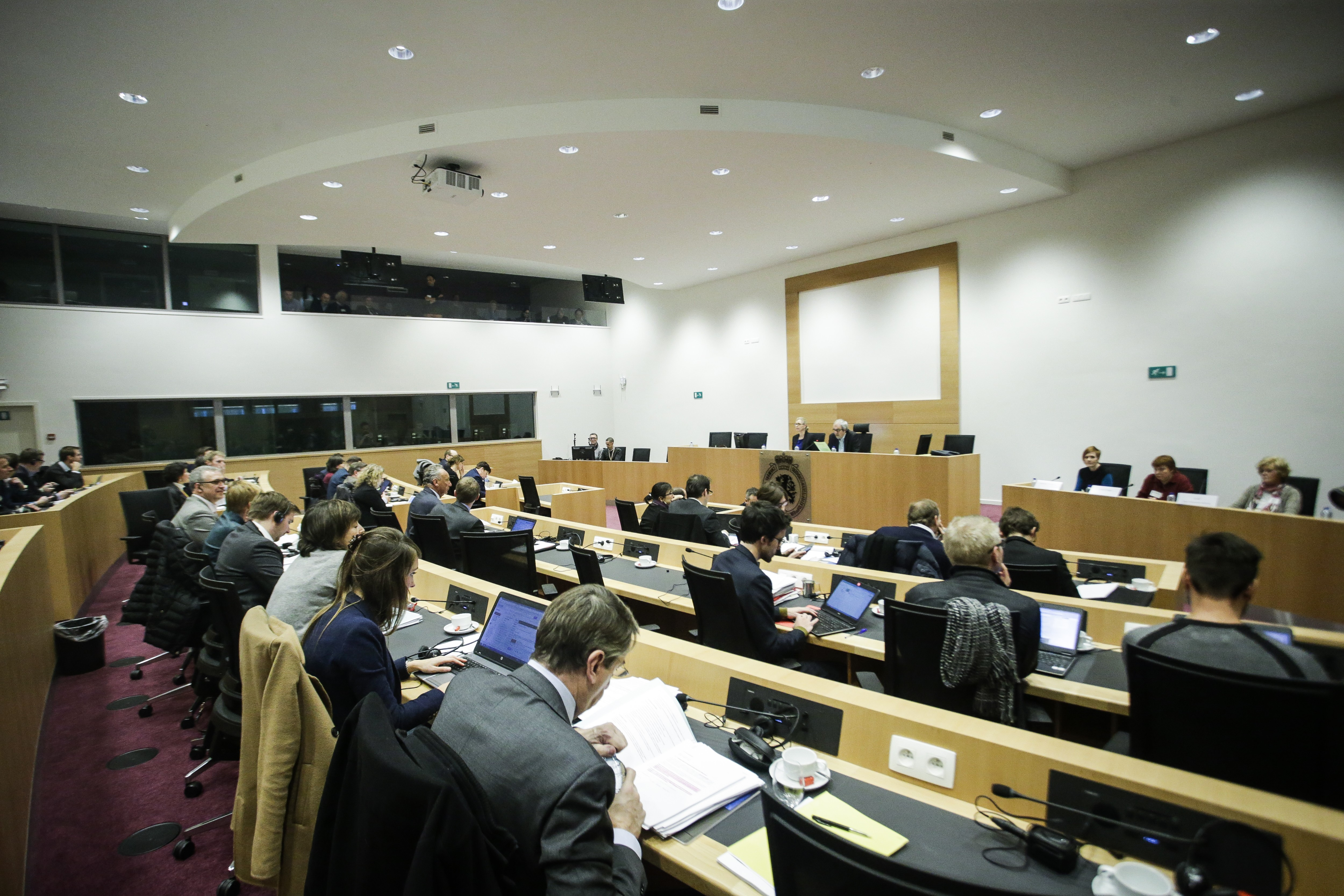 Illustration picture shows a session of the parliamentary inquiry commission on the plea agreement, at the federal parliament, in Brussels, Wednesday 11 January 2017. This commission inquires the circumstances which led to the approbation and the application of the law of 14 April 2011 on the plea agreement. BELGA PHOTO THIERRY ROGE