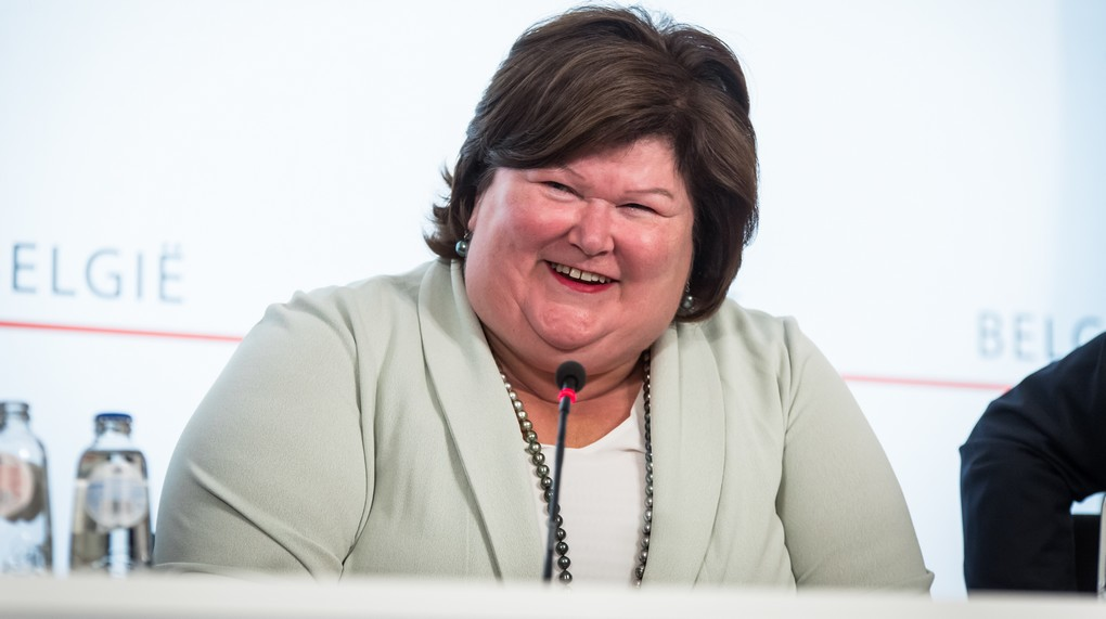 Minister of Health and Social Affairs Maggie De Block pictured during a press conference regarding the reach of an agreement on the federal budget, Wednesday 26 July 2017 in Brussels. BELGA PHOTO AURORE BELOT