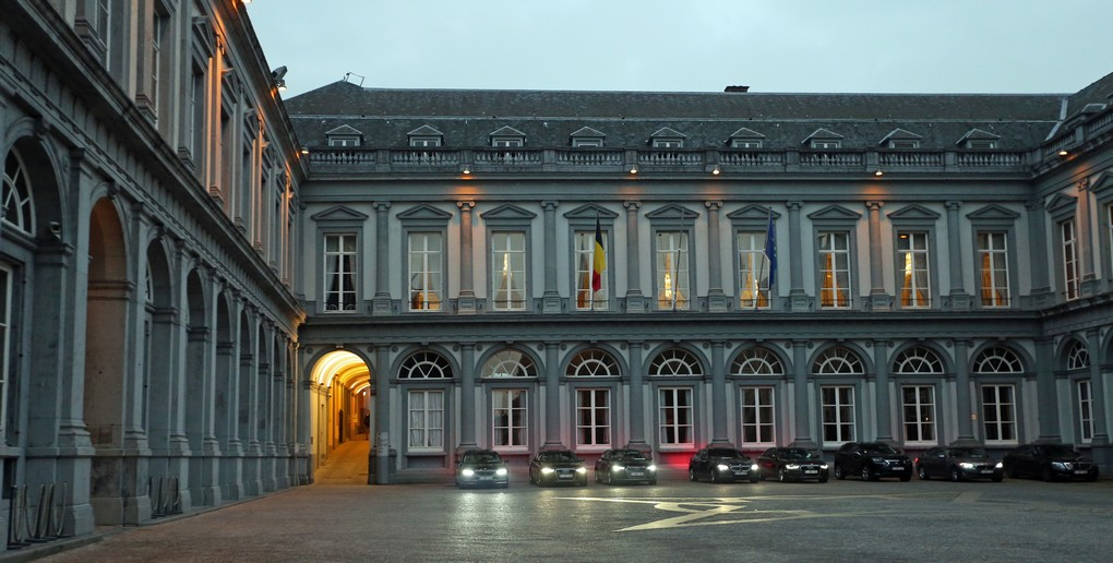 Illustration picture shows the Egmontpaleis - Palais d'Egmont, the location of a meeting on the CETA agreement (EU-Canada Comprehensive Economic and Trade Agreement) at the office of Foreign Minister Reynders, in Brussels, Tuesday 25 October 2016. The Walloon government refuses to approve the CETA free trade deal of the European Union with Canada. BELGA PHOTO NICOLAS MAETERLINCK