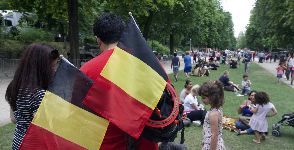20150721 - BRUSSELS, BELGIUM: Illustration picture shows a Royal Visit to the 'Fete au parc - Feest in het Park' celebrations on the Belgian National Day in the Parc de Bruxelles - Warandepark, Tuesday 21 July 2015. BELGA PHOTO NICOLAS MAETERLINCK