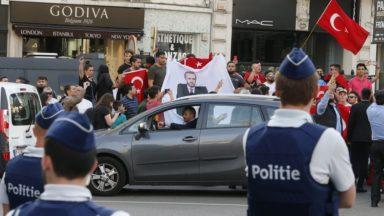 Le vice-Premier ministre turc à Bruxelles ce mercredi : les autorités craignent une manifestation pro-Erdogan