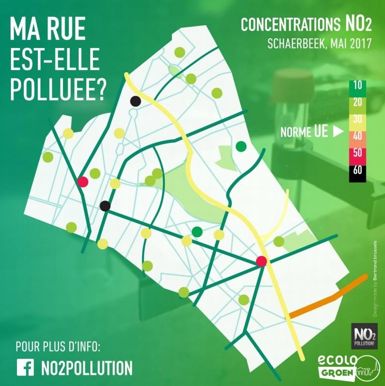 Pollution - Ecolo Groen - Schaerbeek - Mai 2017