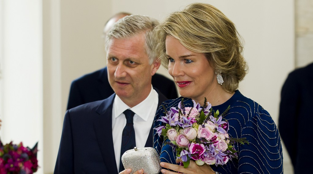King Philippe - Filip of Belgium and Queen Mathilde of Belgium arrive for a concert by the Belgian National Orchestra on the eve of Belgium's National Day, Wednesday 20 July 2016, at Bozar in Brussels. BELGA PHOTO KRISTOF VAN ACCOM